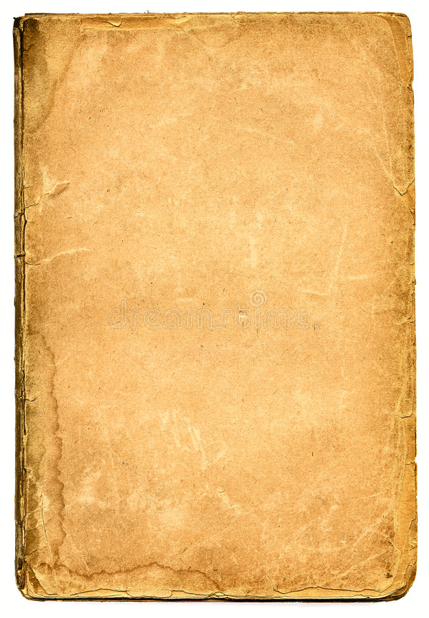 Old textured paper with decrepit edge. royalty free stock images