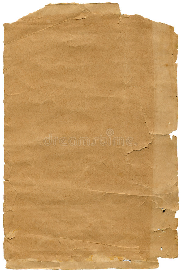 Old textured paper with tattered edge royalty free stock images