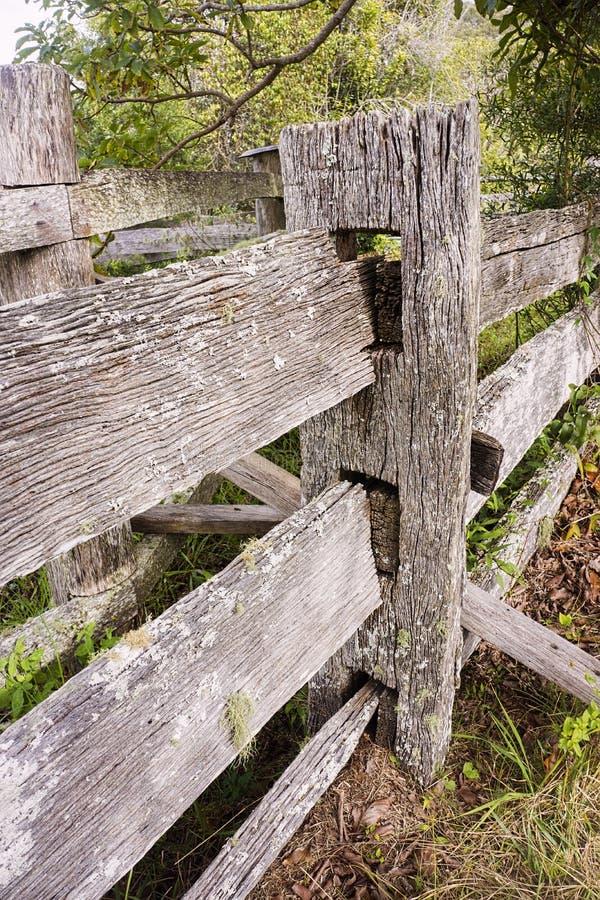 Old textured split rail fence detail royalty free stock photo