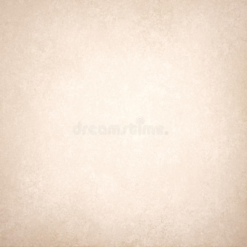 Old textured white paper with brown border, vintage background texture stock illustration