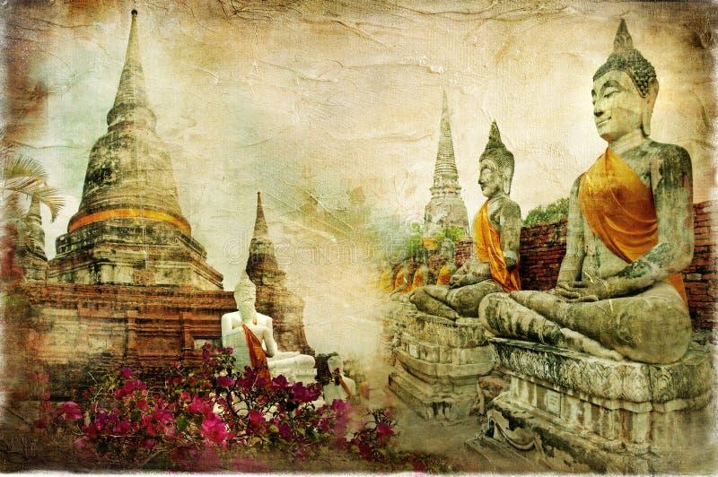 Old Thailand royalty free illustration