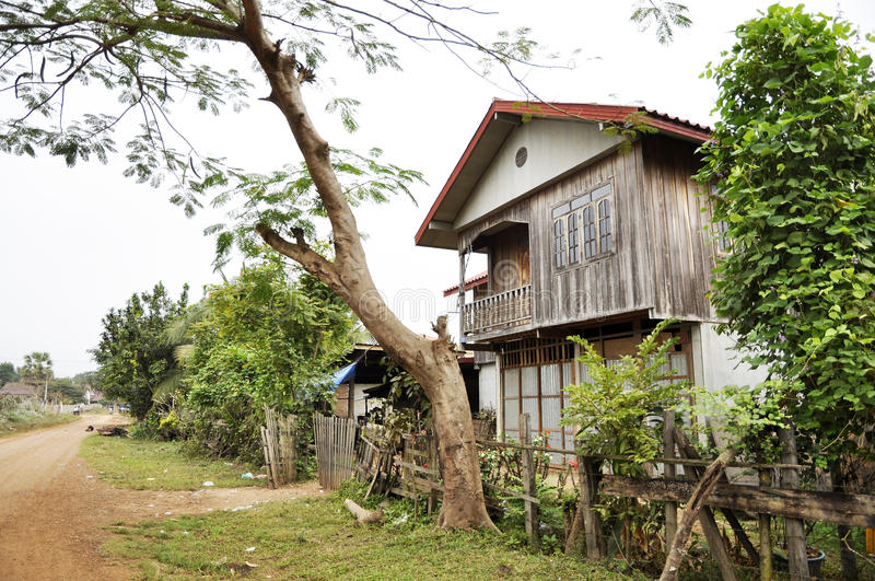 Old Thailand Retro Style Country Vintage House stock images