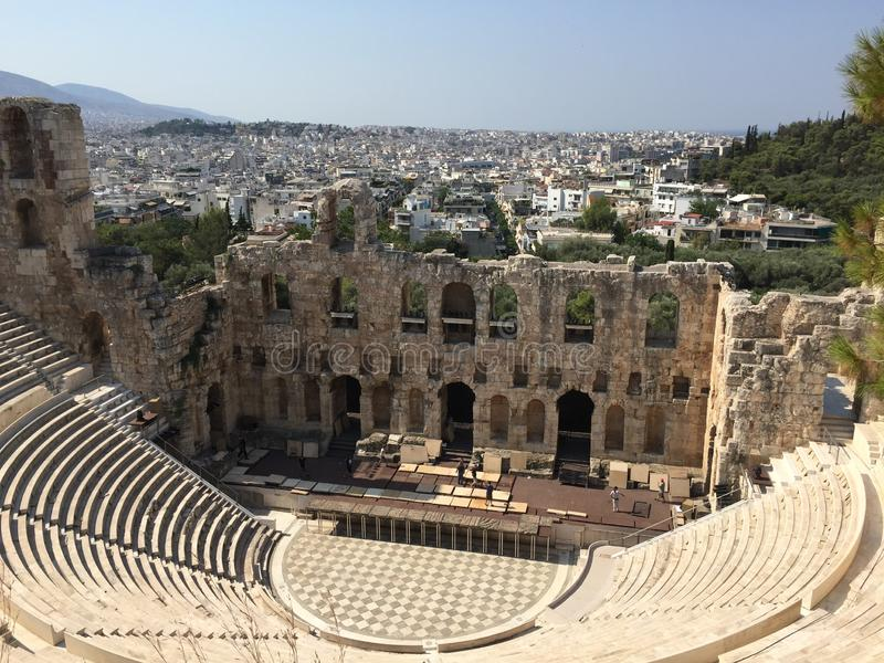The old theatre in Athens stock images