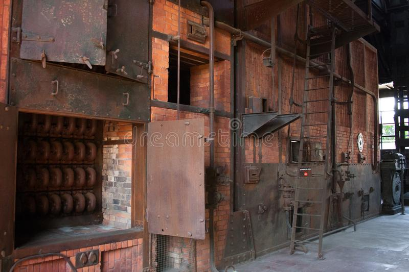 Old thermal power plant, rusty and retro look royalty free stock image