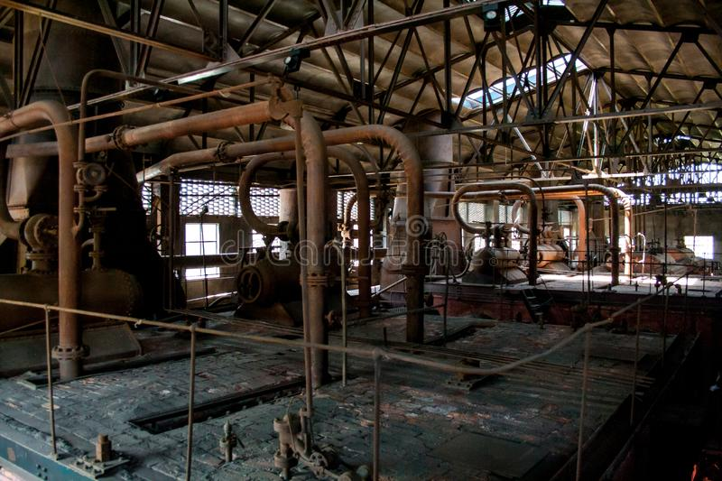 Old thermal power plant, rusty and retro look royalty free stock images
