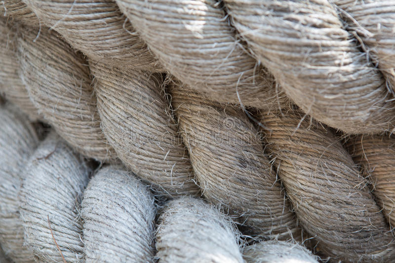 Old thick rope stock images