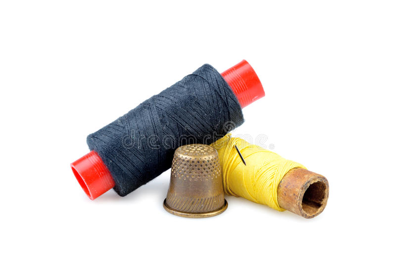 Download Old Thimble And Needle Isolated Stock Photo - Image: 39117442