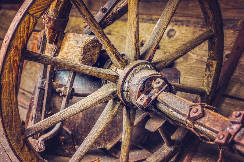 Old things in the barn royalty free stock photo