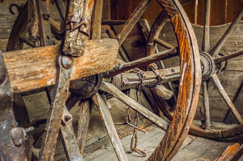 Old things in the barn stock photography