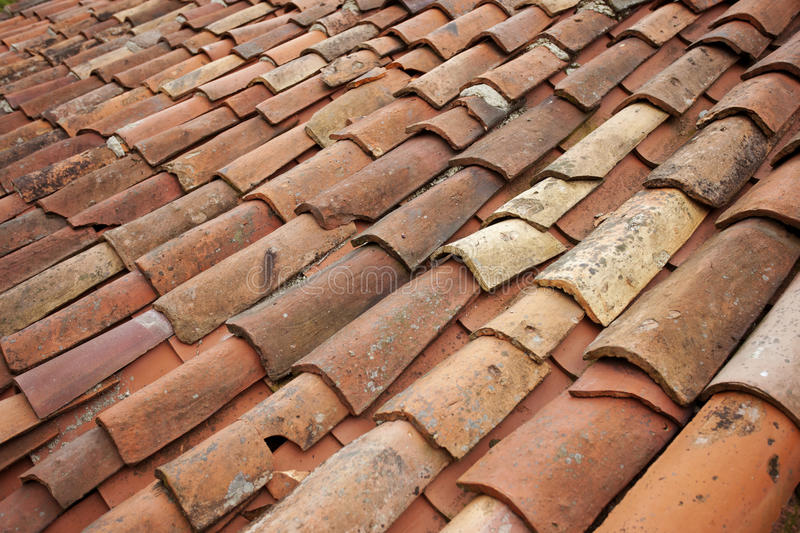 Old Tile Roof Royalty Free Stock Photo