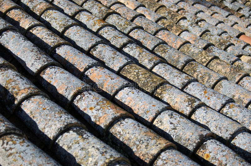 Old Tiled Roof Stock Images