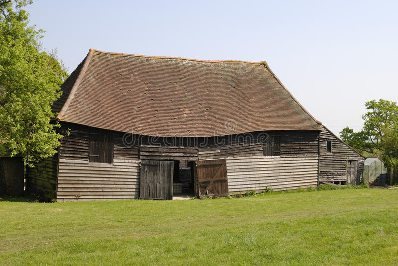 Old timber barn stock image