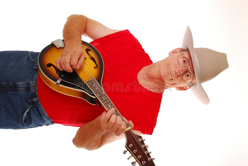 Old Time Country Musician 13 stock photo