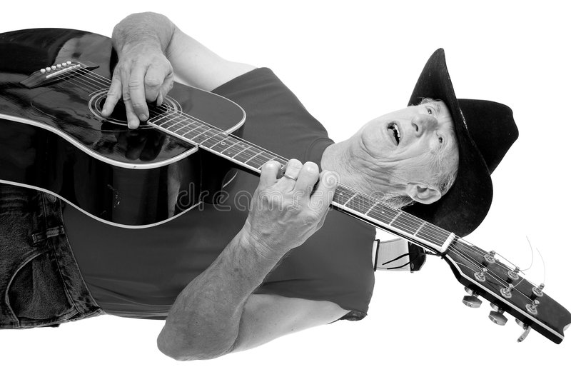Old Time Country Musician Two royalty free stock photo