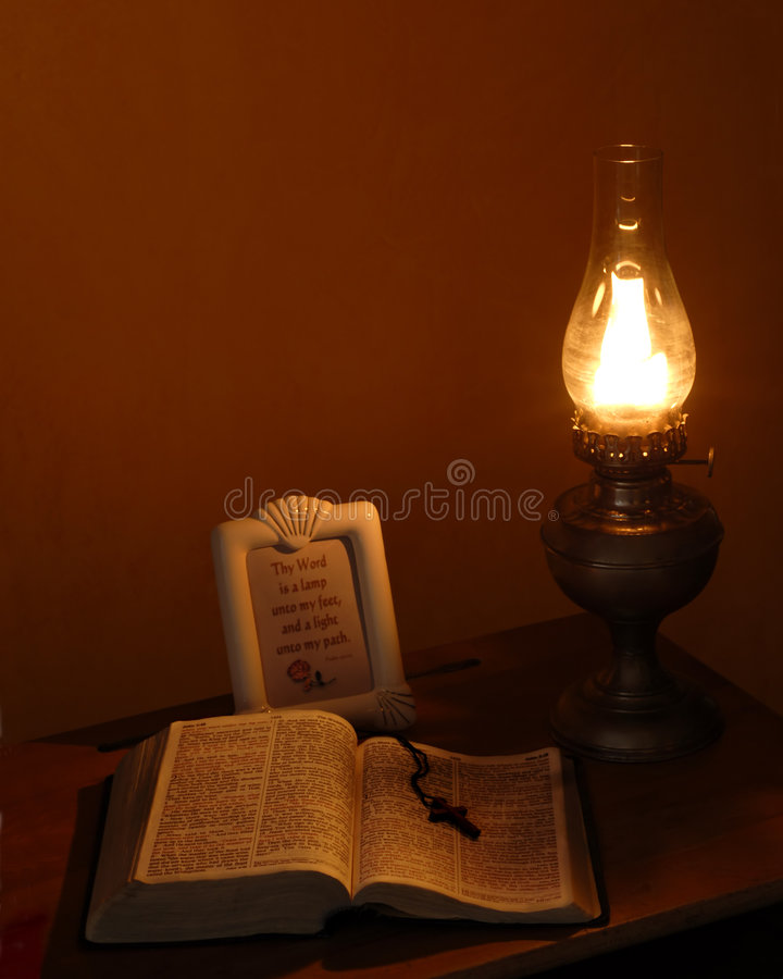 Old Time Devotions stock photo