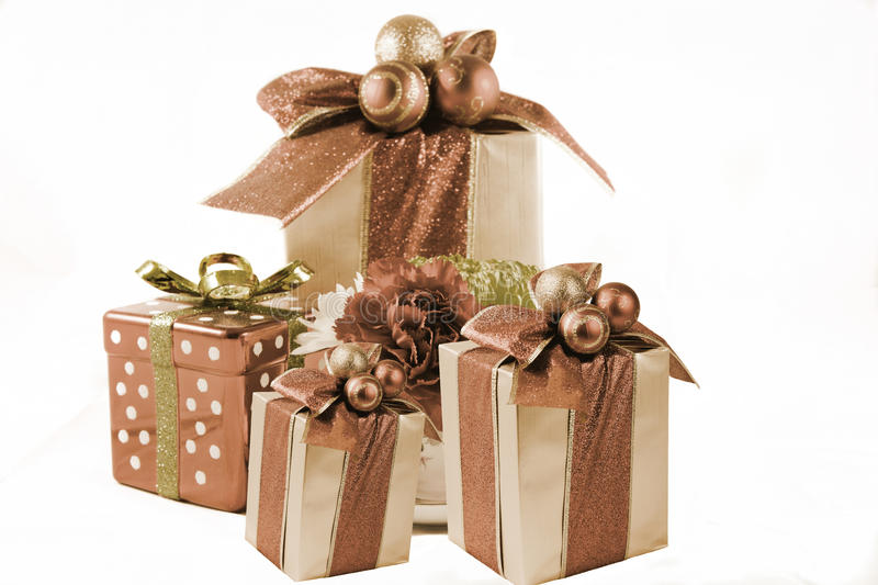 Download Old Time Holiday gifts stock photo. Image of background - 17639348