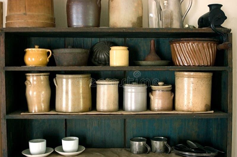 Old Time Kitchen Farm Pantry royalty free stock photo