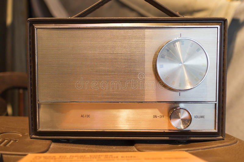 Download Old time radio stock image. Image of tube, golden, electronic - 28312275