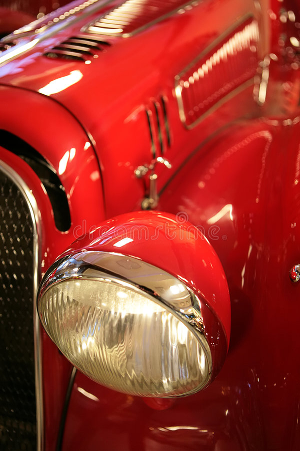 Old-time Red Car Royalty Free Stock Photo