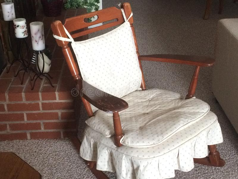 Old-Time Rocking Chair owned by Grandparents stock images