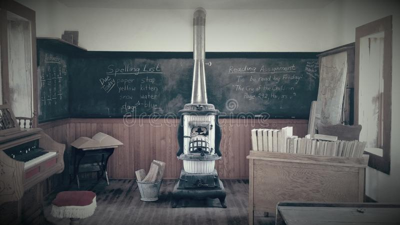 Old Time Schoolhouse royalty free stock photos