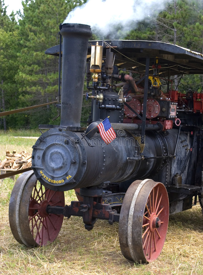 Old Time Steam Engine Tractor royalty free stock photography
