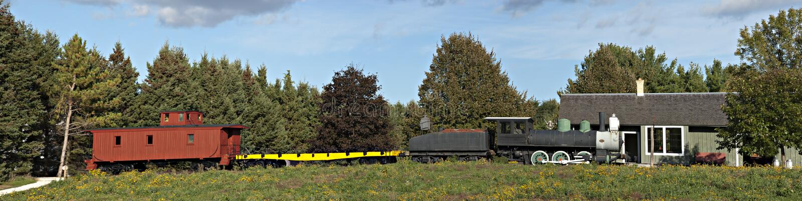 Download Old Time Steam Locomotive Railroad Train Panorama Stock Photo - Image: 16242716
