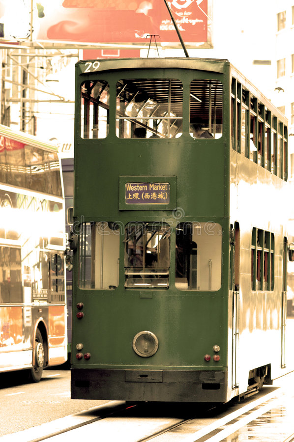 Free Old Time Trolly In Hong Kong Stock Images - 938924