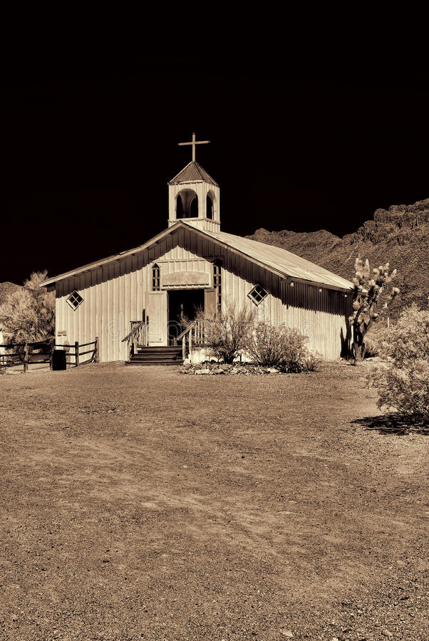 Free Old Time Western Wooden Church Royalty Free Stock Photos - 23646038