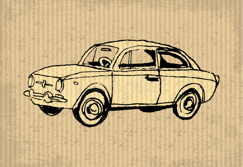 Old-timer stock illustration