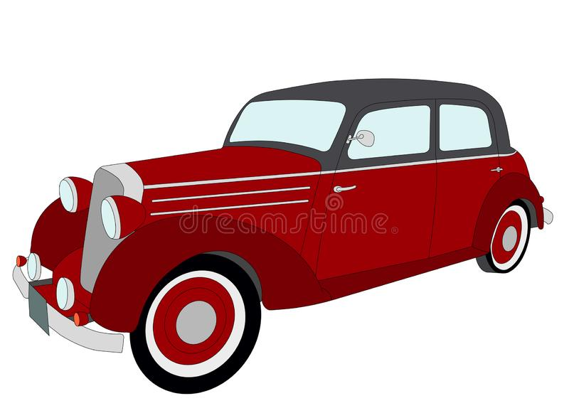 Old timer vintage car vector illustration