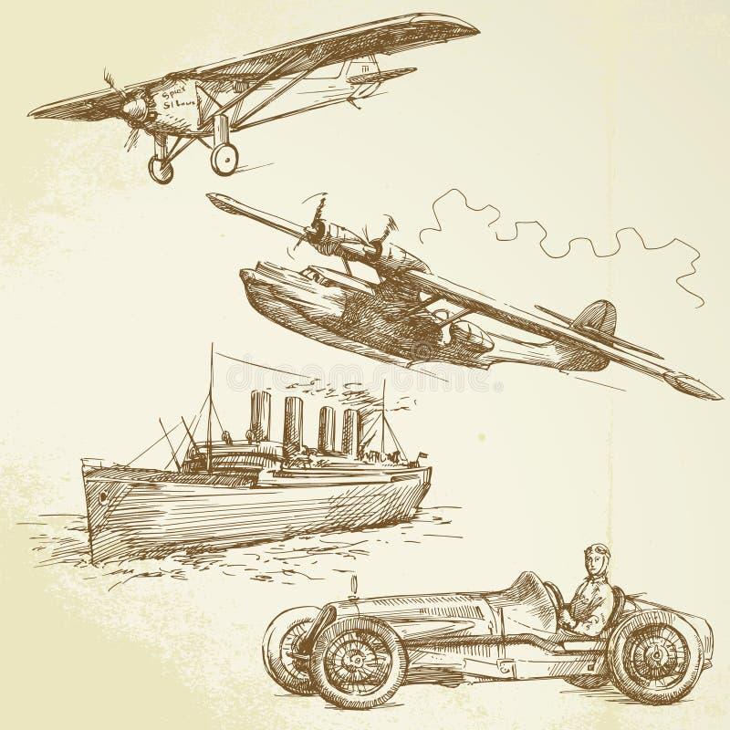 Old times stock illustration
