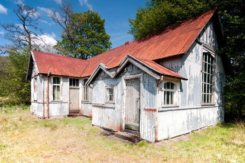 Download Old Tin Building Stock Image - Image: 25471781