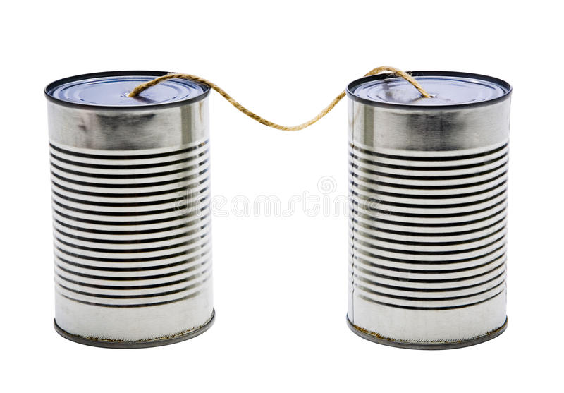 Download Old tin can phones stock image. Image of obsolete, tin - 28780563