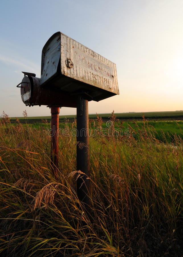Download Old Tin Roadside Mailbox In The Prairies Stock Image - Image: 16611935