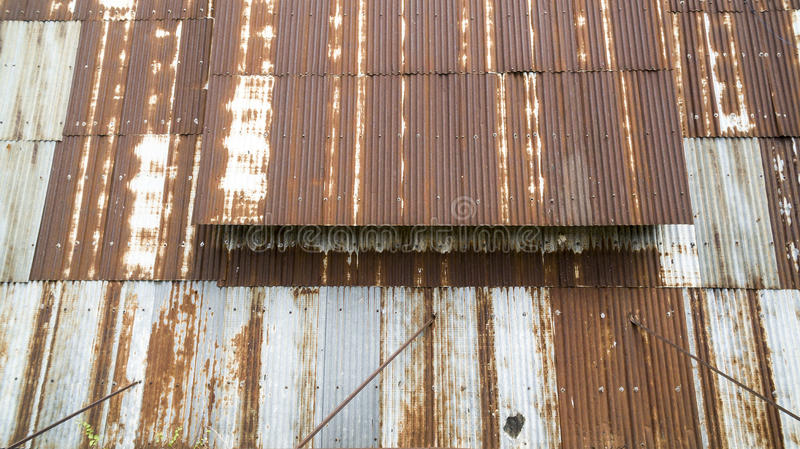 Old tin roof stock image