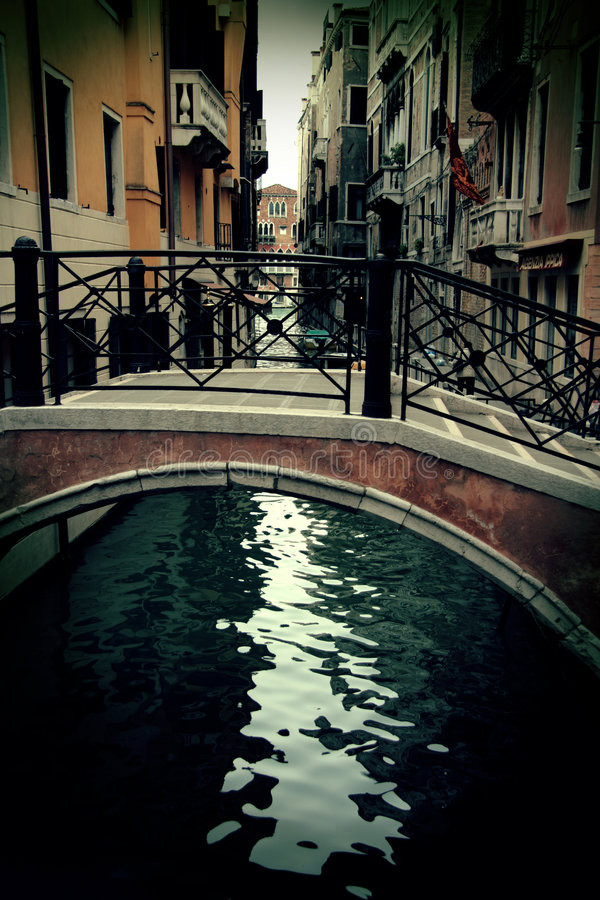 Download Old Tiny Bridge In Venice, Italy Stock Image - Image of water, venice: 4723409