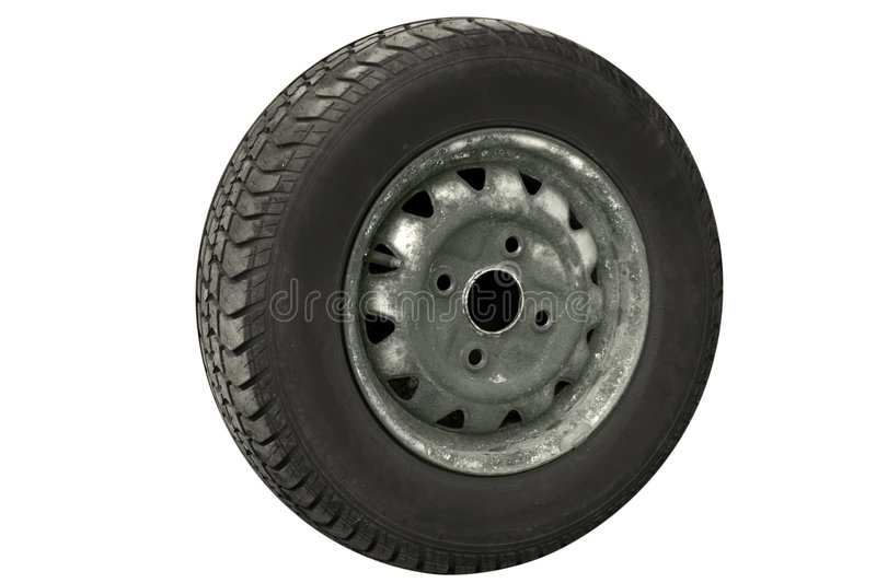 Old tire royalty free stock images