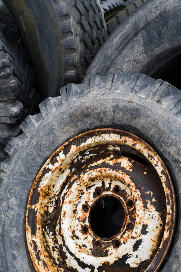 Download Old tire stock photo. Image of wheel, rubber, close, obsolete - 9190986