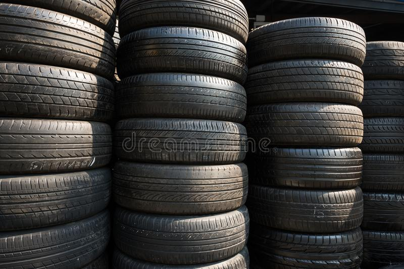Old tire layers texture background stock photo