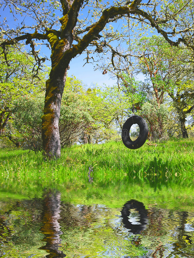 Download Old Tire Swing - Childhood Memories Stock Photos - Image: 4677383