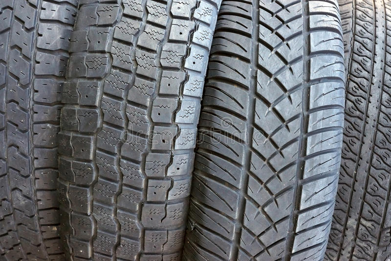 Old tires as background.closeup royalty free stock photo