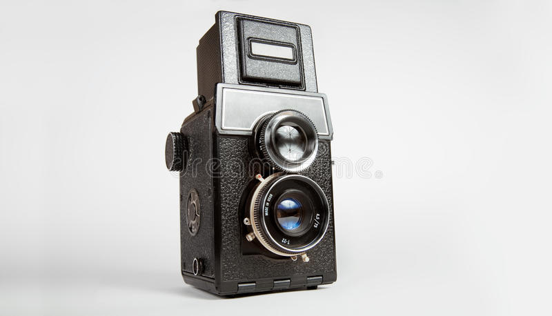 Old tlr camera royalty free stock images