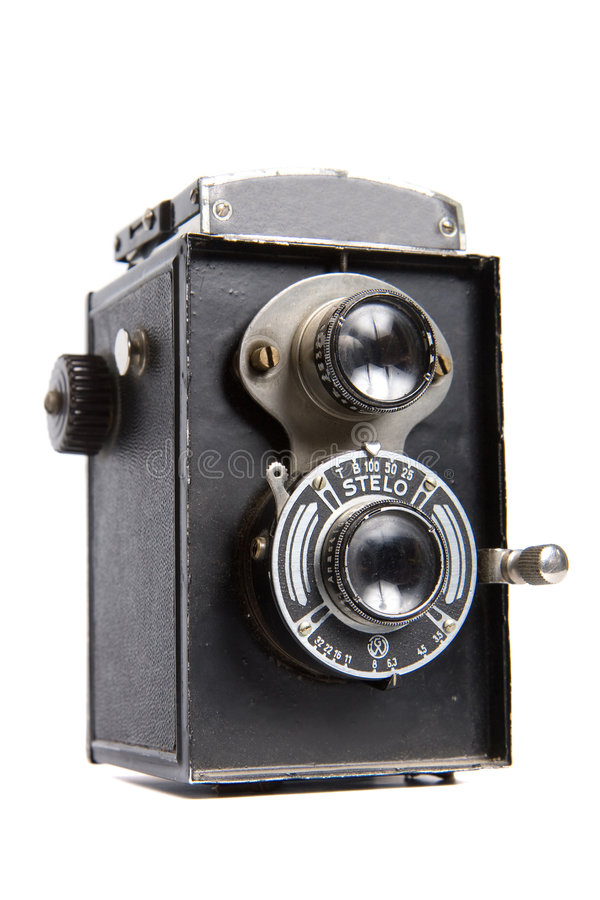 Old TLR camera stock images