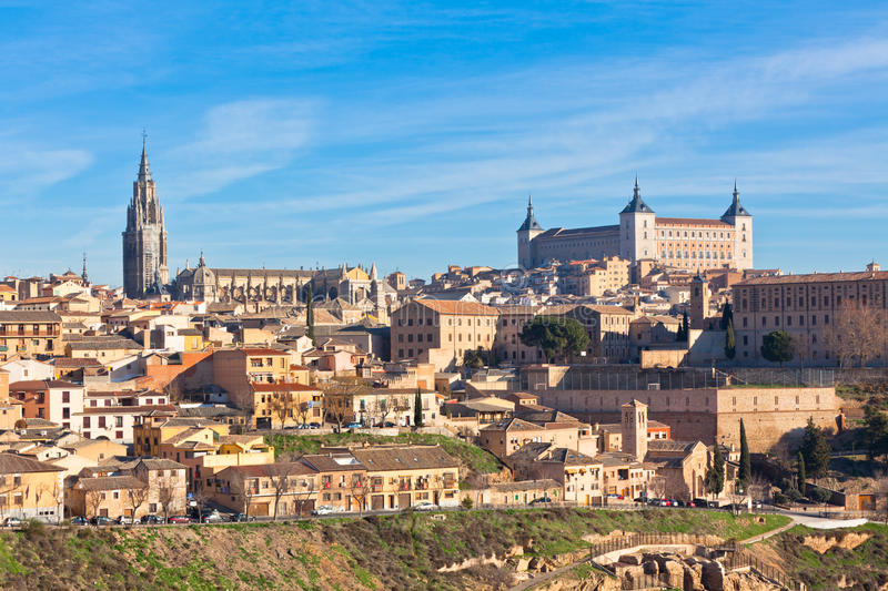 Old Toledo town view, Spain stock photography