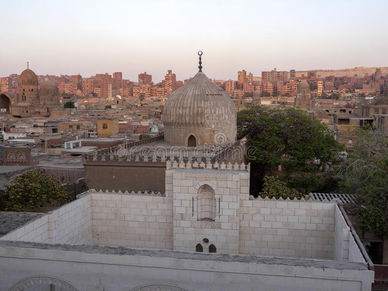Old tombs in Cairo capital city, Egypt. The Old tombs in Cairo capital city, Egypt stock photos