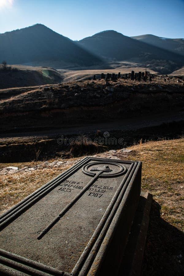 Old Armenian tombstone royalty free stock photos