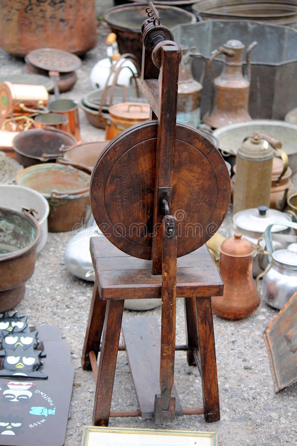 Download Old tool to spin stock photo. Image of industry, antique - 34804066