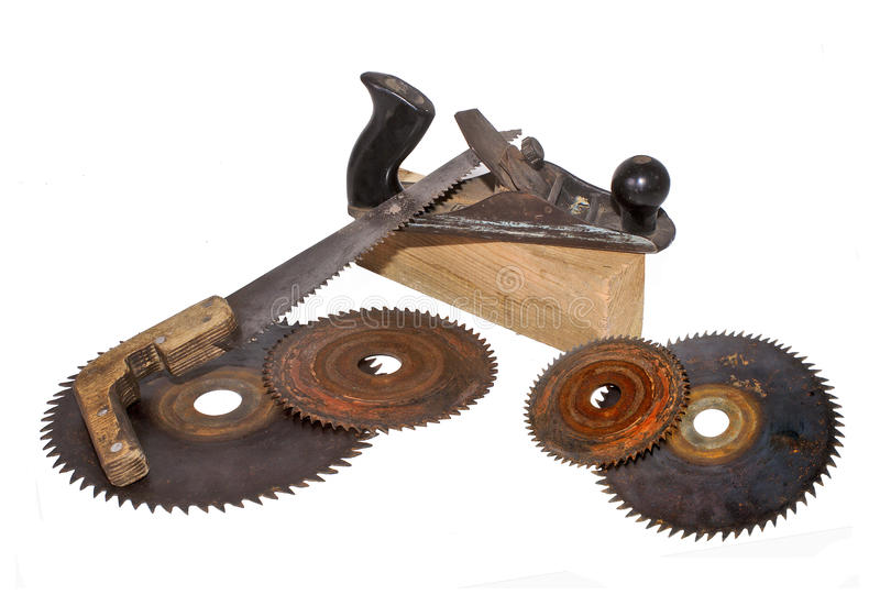 Download Old tools. stock image. Image of wooden, rust, disk, background - 22095975