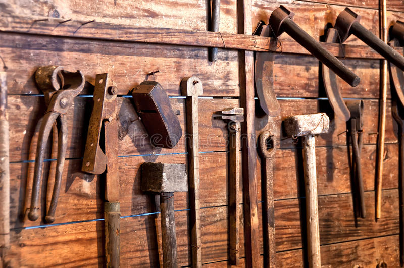 Download Old tools stock photo. Image of broken, garage, golden - 24146190
